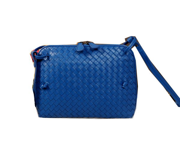 Bottega Veneta BV1515 Blue Intrecciato Nappa Cross Body Bag
