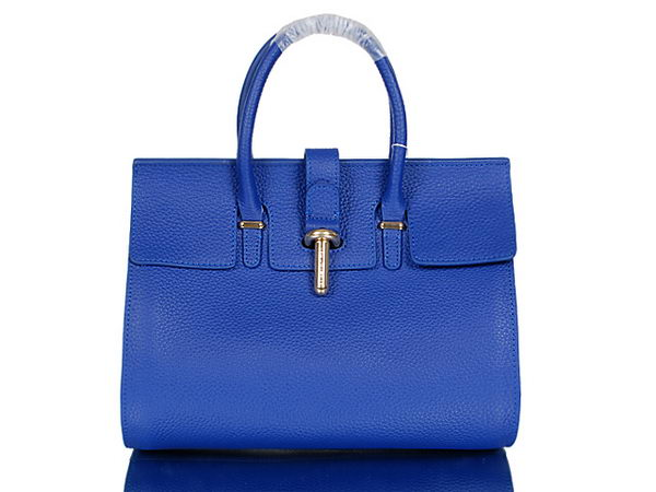 BALENCIAGA Tube Tote Bag Grainy Leather 30682 RoyalBlue