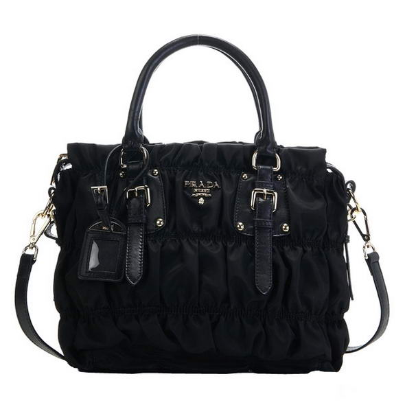 Fashion  Prada Gaufre Nappa leLather Totes BN1336 Black