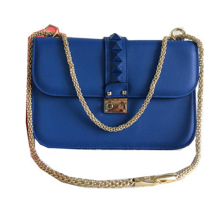 Valentino Garavani Shoulder Bag Calfskin Leather VO1888 Royal