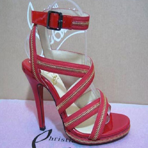 Christian Louboutin Rodita zip platforms Red
