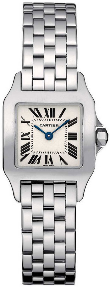 Cartier Santos Demoiselle Stainless Steel Ladies Swiss Quartz Wristwatch-W25064Z5
