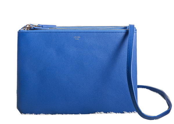 Celine Trio Crossbody Messenger Bag C3000 Blue