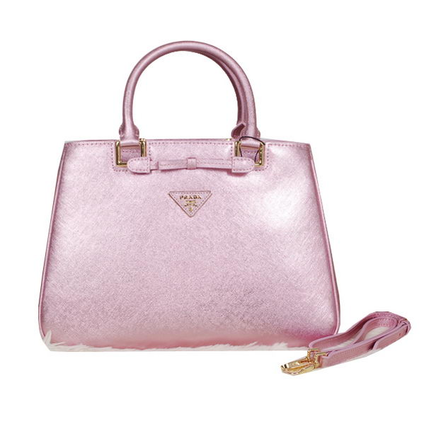 Prada Fluorescence Leather Tote Bag BN2244 Pink