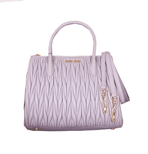 miu miu Sheepskin Leather Three-pocket Bag BN1212 Light Purple