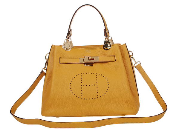 Hermes Mini So Kelly 30CM Bag H2048 Yellow