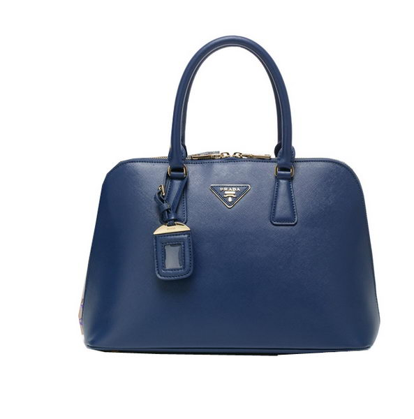 PRADA Saffiano Leather Top Handle Bag BN0812 Royal
