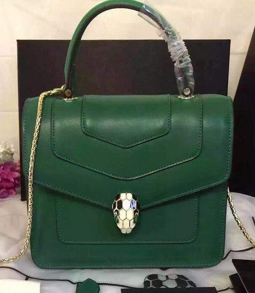 BVLGARI Serpenti Forever Bag Original Leather BG48042 Green