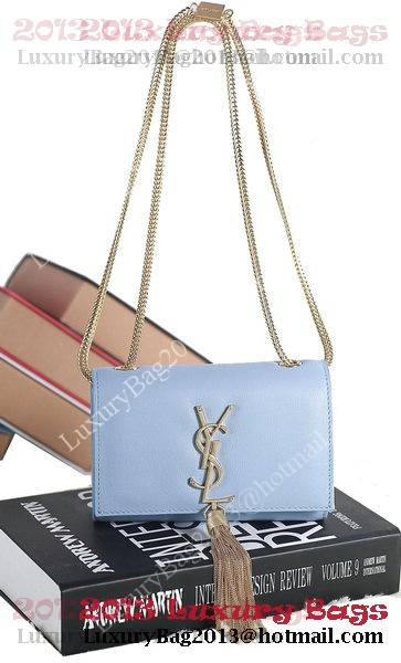 Yves Saint Laurent mini Monogramme Cross-body Shoulder Bag 5478 Light Blue