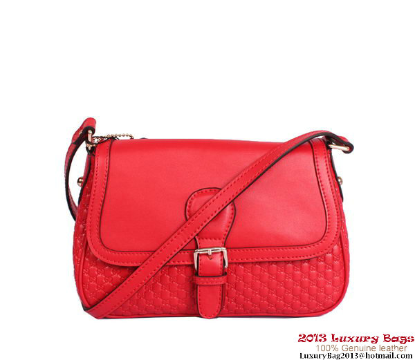 Gucci Guccissima Shoulder Bag 308452 Red