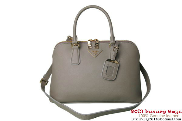 PRADA Saffiano Leather Two Handle Bag BL0837 Grey