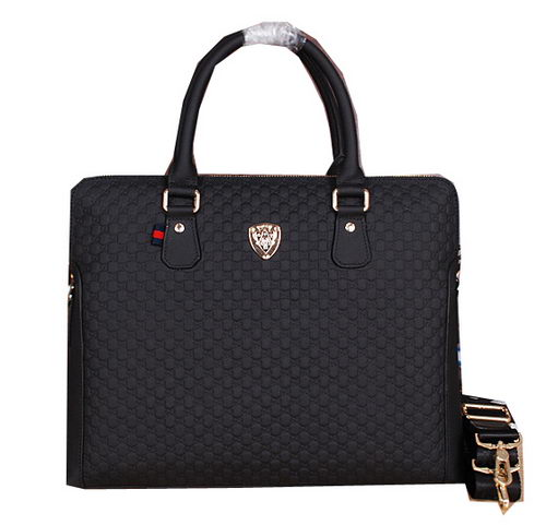 Gucci Guccissima Leather Business Briefcase G66221 Black