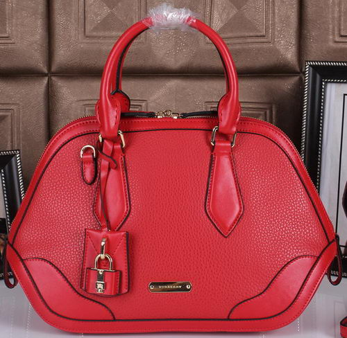 BurBerry Grainy Leather Tote Bag 38541591 Red