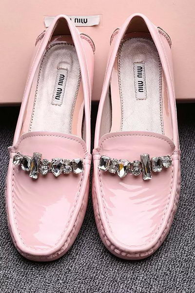 miu miu Casual Shoes Patent Leather MM334 Pink
