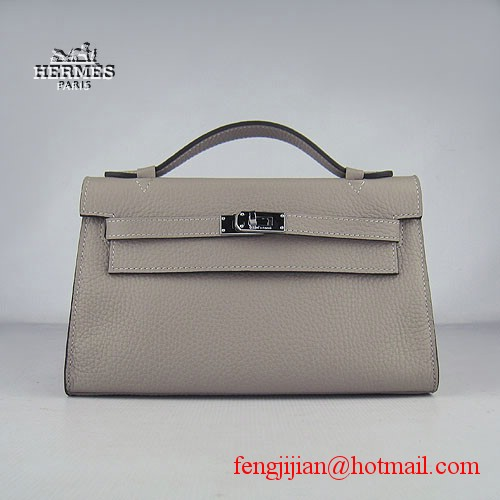 Hermes Kelly 22cm H008 grey bags