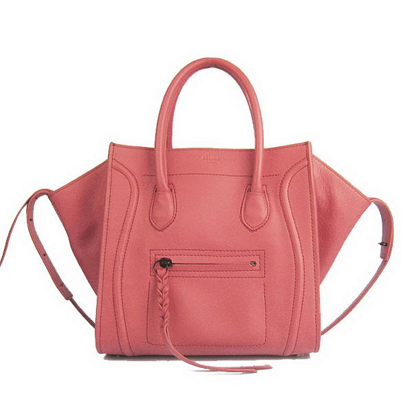 Celine Small Phantom Bags Original Calfskin Leather C1890 Light Red