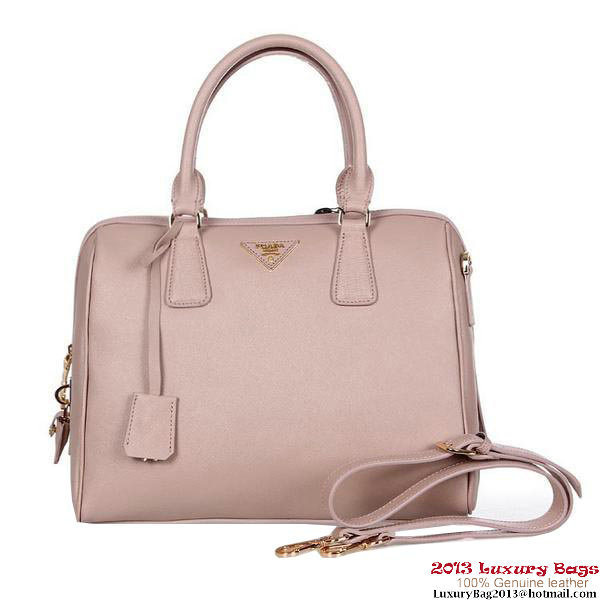 Prada Saffiano Calf Leather Top-handle Bag BL0823 Light Pink