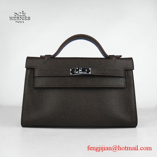 Hermes H008 cattle neck stripe dark coffee bags