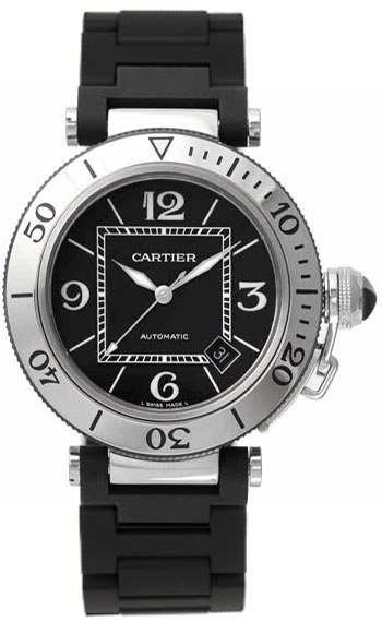 Cartier Pasha Fashionable Stainless Steel Mens Automatic Wristwatch-W31077U2