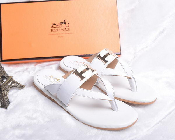 Hermes Flip-Flop Leather HO0448 White