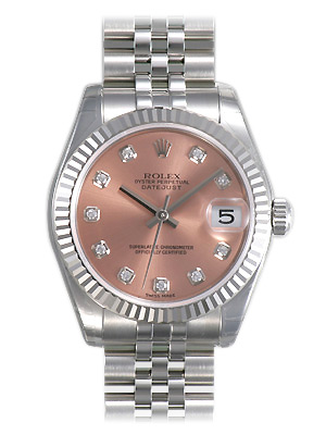 Rolex Datejust Series Unisex Automatic Midsize Wristwatch 178274-PDJ
