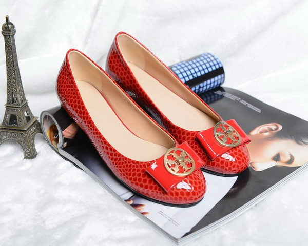 Tory Burch Ballerina Snake Leather TB1503 Red