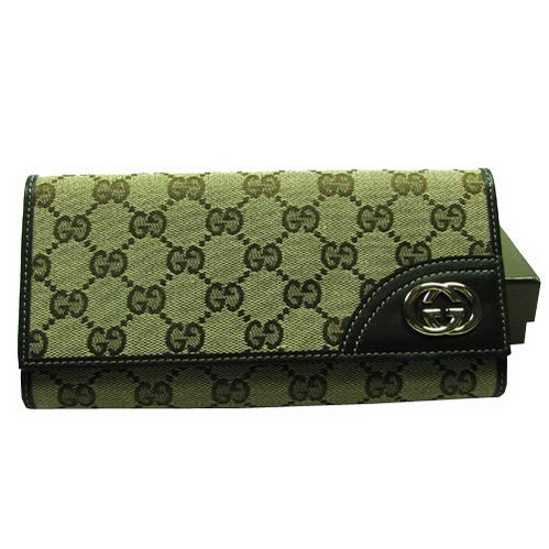 Gucci Trendy Wallet With Interlocking G Ornament 181595 Black