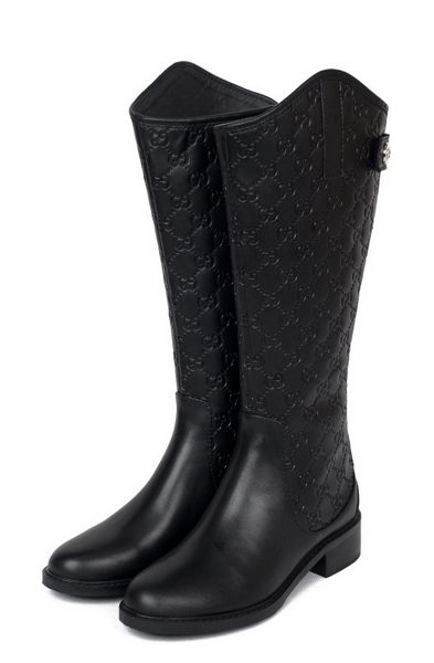 Gucci Calf Leather Knee Boots 19621 Black