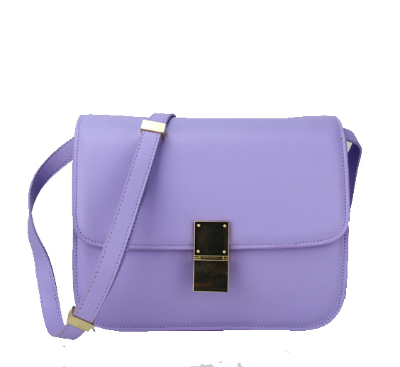 Celine Classic Box Small Flap Bag Calfskin 88007 Lavender