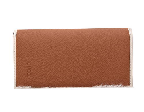 Gucci Grainy Leather Bi-fold Wallet G8037 Wheat