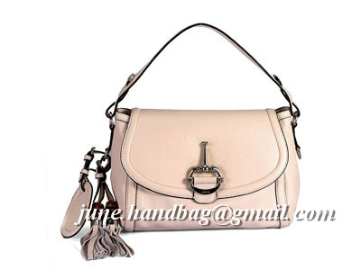 Gucci Techno Horsebit Hobo Large Leather Handle Bag 24026 Off White