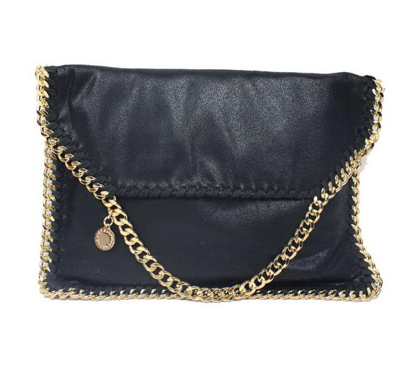 Stella McCartney Falabella Black PVC Cross Body Bag 876 Gold