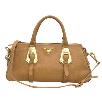 Prada Leather Tote Bag BN1903 Light Coffee