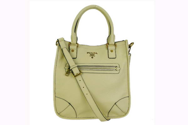 Prada Calf Leather Hobo Bag BR4739 Apricot