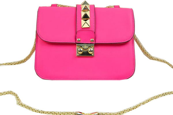 Valentino Garavani Shoulder Bag Ferrari Leather VG817 Rose
