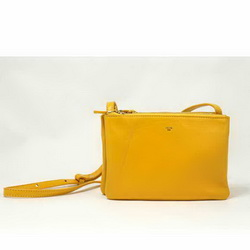 Celine Fashion Lambskin Shoulder Bag 8822 Yellow