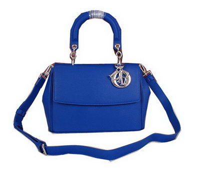 Dior Be Dior Flap Bag Grainy Leather CD0322 Blue
