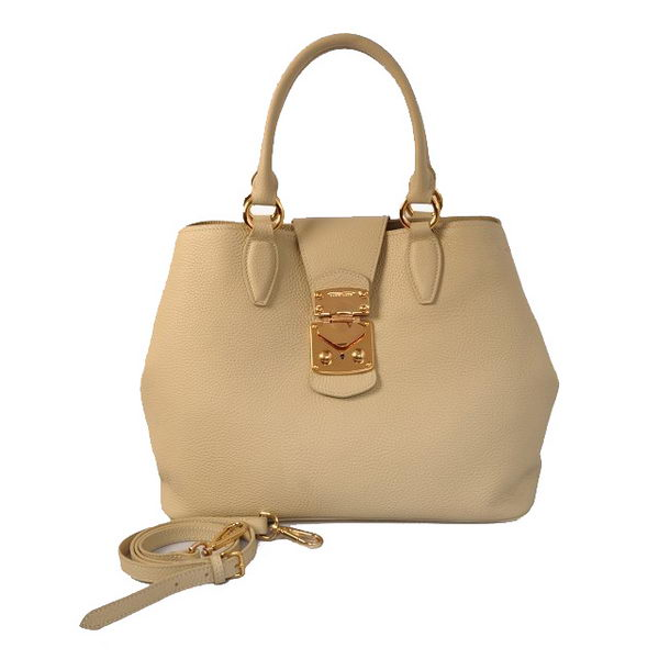 miu miu Original Leather Tote Bag 338908 Apricot