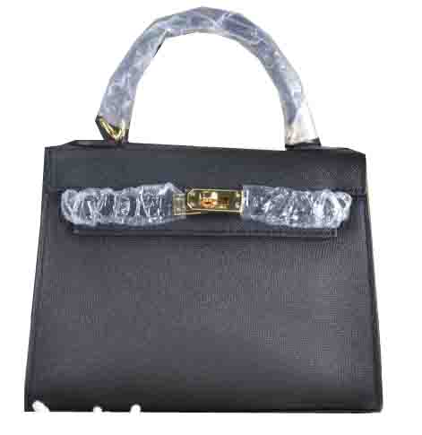Hermes Kelly 22cm Tote Bag Calfskin Leather Black