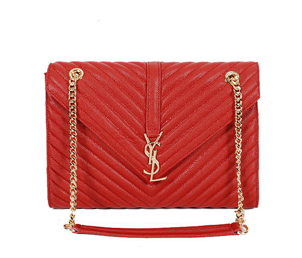 Yves Saint Laurent Classic Monogramme Flap Bag Y9201 Red