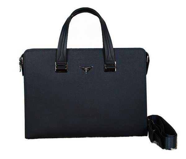 Prada Calf Leather Briefcase 32296 Black