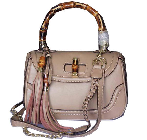 Gucci New Bamboo Top Handle Bags 240242 Apricot