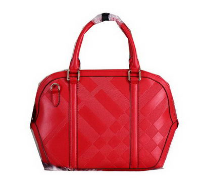 BurBerry Tote Bag Original Leather BU3231 Red