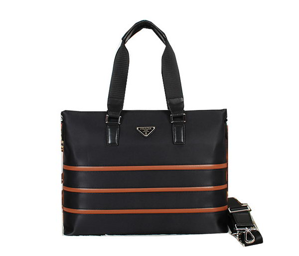 Prada Tessuto Canva Briefcase P8566 Black