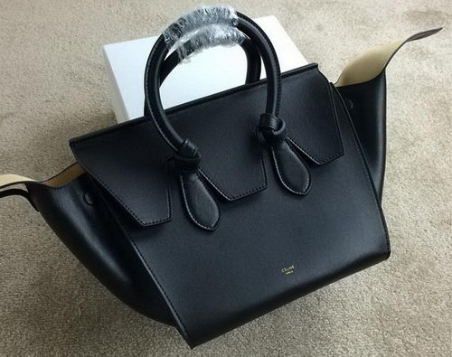 Celine Tie Nano Top Handle Bag Smooth Leather 98313 Black
