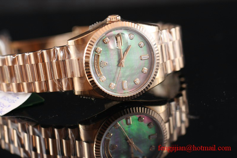 Rolex Rose Gold Day-Date President Watch 118235-83205