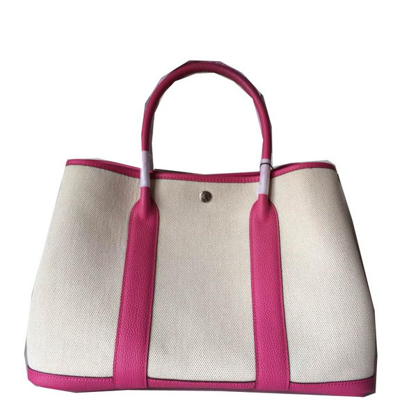 Hermes Garden Party 36CM Bag Canvas Leather H11M Rosy