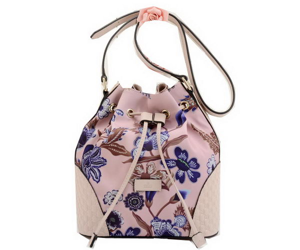 Gucci Camouflage Leather Bucket Bag 354228 Pink