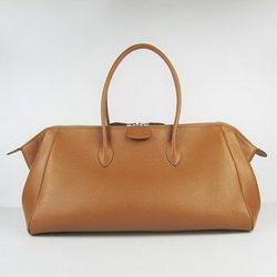 Hermes Jumbo Paris Bombay Bag Light Coffee