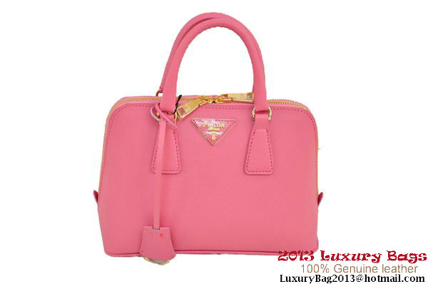 Prada Saffiano Two Handle Bag 25cm BL0838 Pink